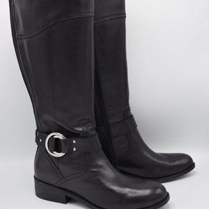 Marc Fisher Wide Calf Leather Riding Boots- Gatway